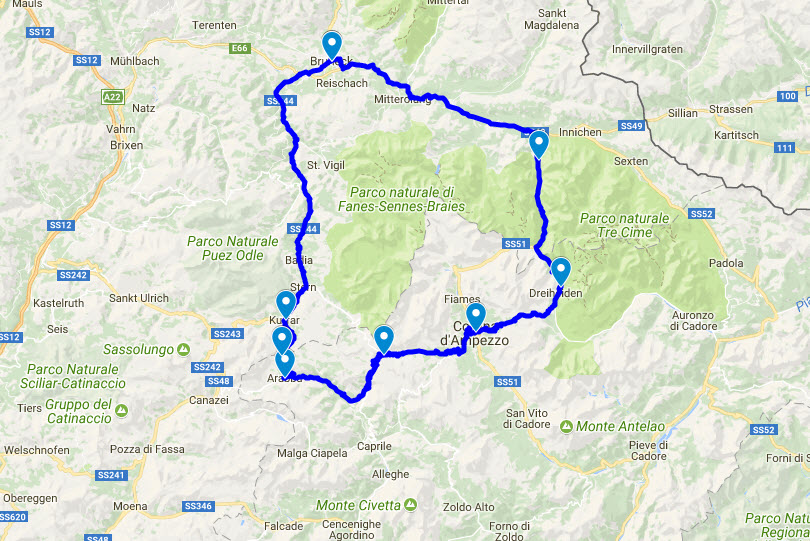 Motorradtour im Pustertal Cortina