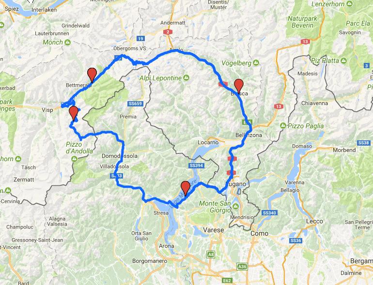Lago Maggiore Karte.Fiesch Lago Maggiore Alpen Motorrad